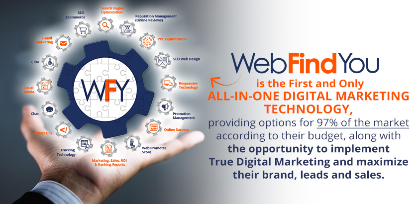 WebFindYou is the First and Only All-in-One Digital Marketing Technology