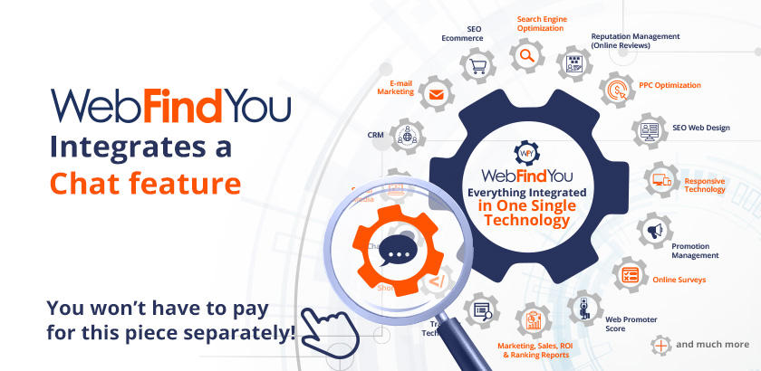 WebFindYou Integrates a Powerful Chat into our 20+ Digital Tools