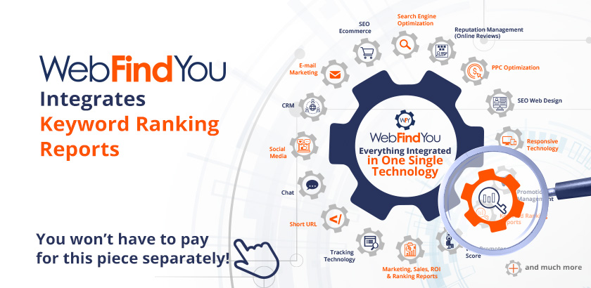 WebFindYou Integrates a Powerful Keyword Ranking Reports into our 20+ Digital Marketing Tools