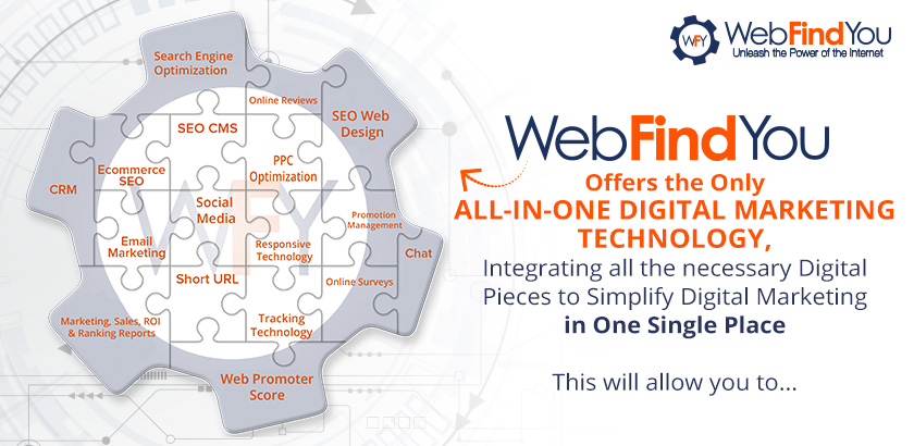 WebFindYou Offers the Only All-in-One Digital Marketing Technology