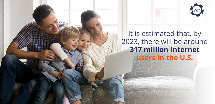 By 2023, There will be Around 317 Million Internet Users in the U.S.